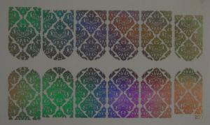 125  Слайдер-дизайн фольг-й серебро голография