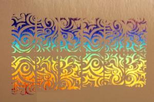 192  Слайдер-дизайн фольг-й серебро голография