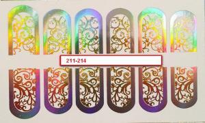 212  Слайдер-дизайн фольг-й серебро голография