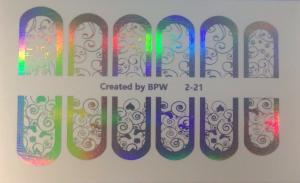 9  Слайдер-дизайн фольг-й серебро голография