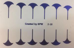 221  Слайдер-дизайн фольг-й синий