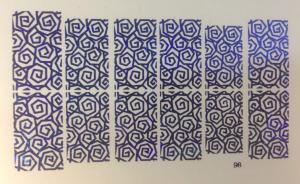 49  Слайдер-дизайн фольг-й синий