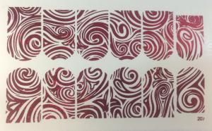 6  Слайдер-дизайн фольг-й красный