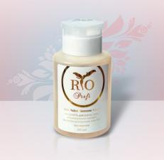 Жидкость для снятия лака, обезжиривания ногтей и снятия липкого слоя 3 в 1 200мл с помпой Rio Profi