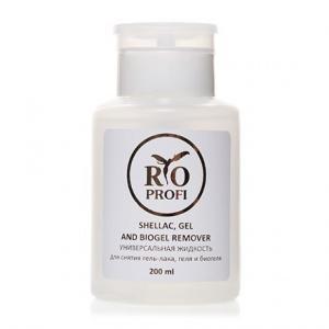 Универсальная жидкость для снятия гель-лака, геля и биогеля 200мл с помпой Rio Profi