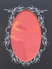 Фольга битое стекло на клеевой основе (красно-оранжевая)