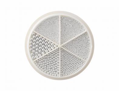 Бульонки металл в карусели (серебро) mix размеров