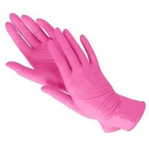 Перчатки Vinil/Nitrile (розовые) М 100шт