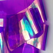 Фольга битое стекло (сиреневый)