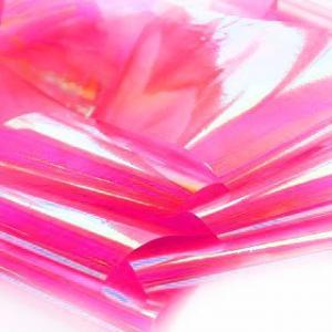 Фольга битое стекло (ярко-розовый)