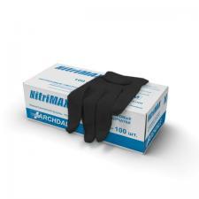 Перчатки нитриловые черные M (100шт)