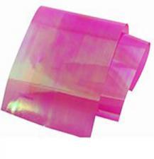 Фольга битое стекло малиновый (1м)