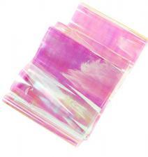 Фольга битое стекло розовый (1м)