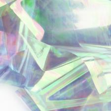 Фольга битое стекло серебро (1м)