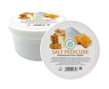 Соль для педикюрных ванночек с медом 500гр
