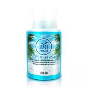 Жидкость для снятия гель-лака, геля и биогеля Морской аромат RIO PROFI 180мл помпа