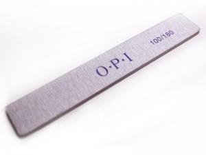 Пилка маникюрная серая OPI (прямая широкая)  100/180