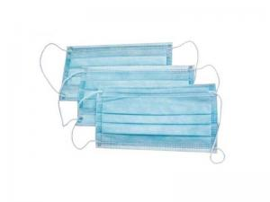 Маска 3-х слойная голубая (упаковка 50шт)