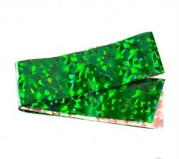 Фольга широкая в рулонах (зеленая, орнамент)