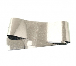 Фольга широкая в рулонах (звездочки серебро)