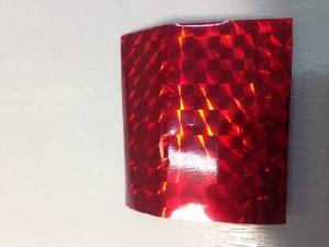 Фольга широкая в рулонах (красная, орнамент)