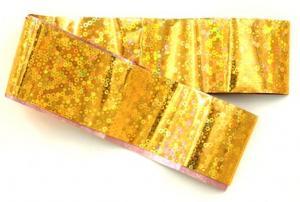 Фольга переводная золото голография 1м