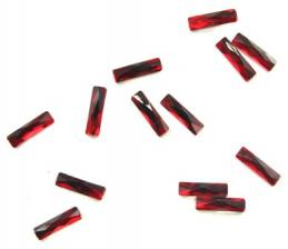 Стразы крупные прямоугольные красные (1шт)
