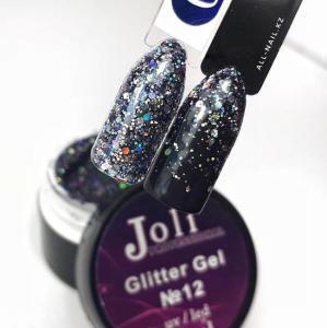 12 Glitter Gel  Joli Professional 12ml