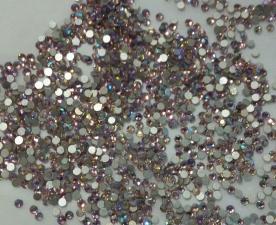 Стразы стекло (светло-розовые голография) SS3 (1440 шт)