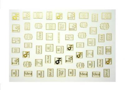 Наклейки SMI:)E на клейкой основе GOLD