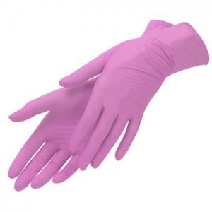 Перчатки нитрил Benovy (розовые) S 100шт