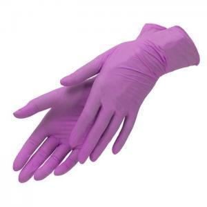 Перчатки нитрил Benovy (сиреневые) S 100шт