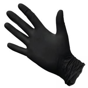 Перчатки нитрил Benovy (черные) L 100шт
