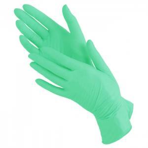 Перчатки нитрил Benovy (зеленые) S 100шт