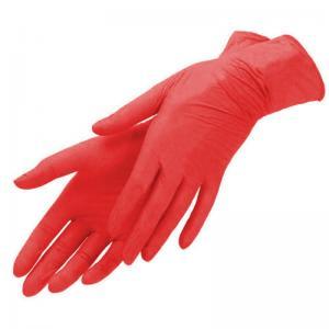 Перчатки нитрил Benovy (красные) S 100шт