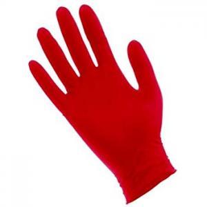 Перчатки нитрил Benovy (красные) M 100шт