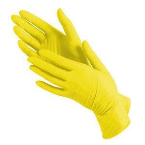 Перчатки нитрил MediOk (желтые) S 100шт