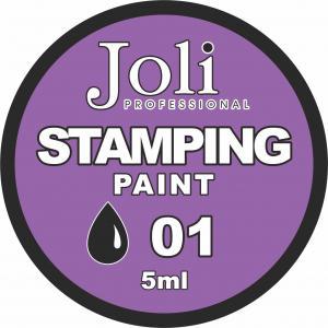 01 Краска для стемпинга Joli Professional 5ml (черная)