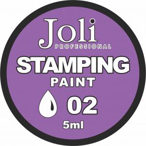 02 Краска для стемпинга Joli Professional 5ml (белая)