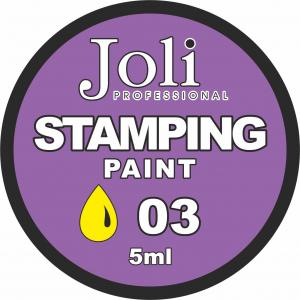03 Краска для стемпинга Joli Professional 5ml (золото)
