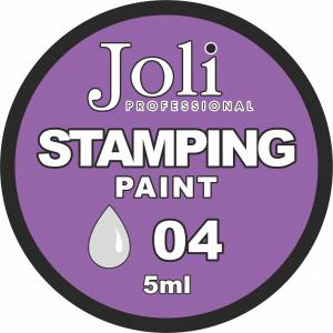 04 Краска для стемпинга Joli Professional 5ml (серебро)