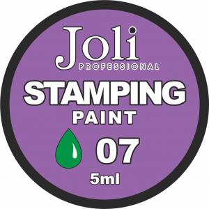 07 Краска для стемпинга Joli Professional 5ml (зеленая)