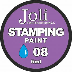 08 Краска для стемпинга Joli Professional 5ml (голубая)