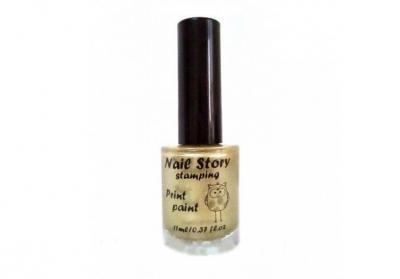 Лак для стемпинга NailStory, золото 11мл