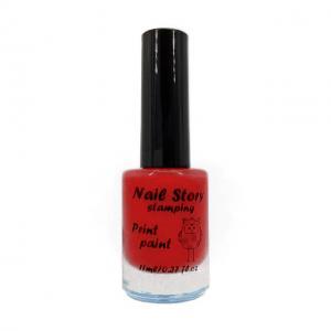 Лак для стемпинга NailStory, красный №3 11мл