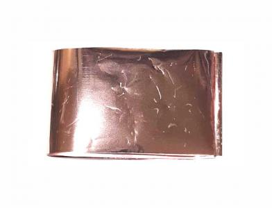 Фольга переводная розовое золото 1м