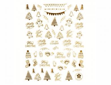 142СB Наклейка для дизайна Gold