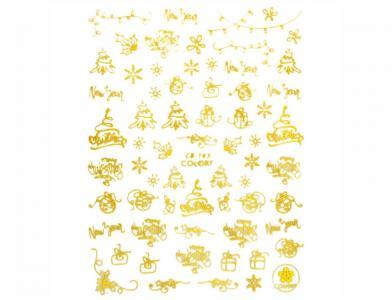 143СB Наклейка для дизайна Gold