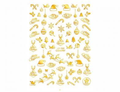 149СB Наклейка для дизайна Gold