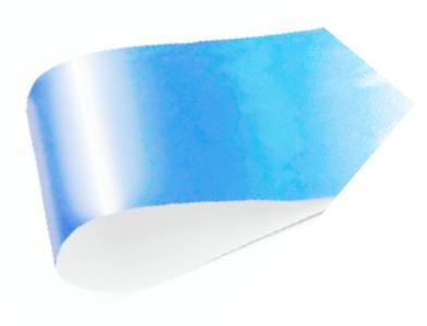 Фольга переводная голубая 1м
